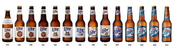 Miller-Lite-bottles-through-the-years